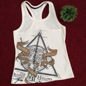 NWT Harry Potter | Deathly Hallows White Tank Top